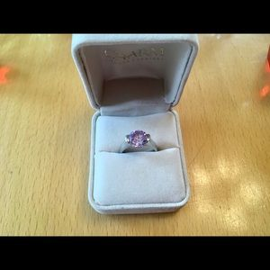 Beautiful Charm Jewellers Solitaire Amethyst ring.